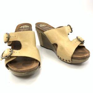 Dansko open toe wedges